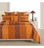 Swayam Brown Cotton Bed sheet - Set of 2