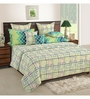 Swayam Cream Cotton Queen Size Bed Sheet - Set of 3
