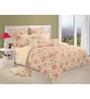 Swayam Cream Cotton Queen Size Bedding Set - Set of 4