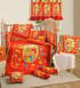 Swayam Red Baby 7-Piece Crib Bedding Set