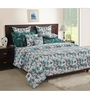 Swayam Green Cotton Queen Size Bed Sheet - Set of 3