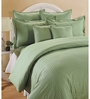 Swayam Green Cotton Queen Size Bedding Set - Set of 4