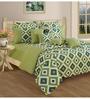 Swayam Green Cotton Bed sheet - Set of 2