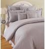Swayam Mauve Cotton Queen Size Bed Sheet - Set of 3