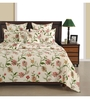 Swayam Off White Cotton Queen Size Bed Sheet - Set of 3