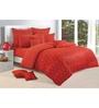 Swayam Orange Cotton Bed sheet - Set of 2