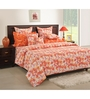 Swayam Orange Cotton Bed sheet - Set of 2