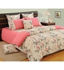 Swayam Pink Cotton Queen Size Bedding Set - Set of 4