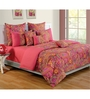 Swayam Pink Cotton Bed sheet - Set of 2