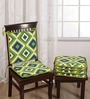 Swayam Green Cotton 16 x 16 Inch Contemporary Chair Pad - Set of 4