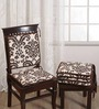 Swayam Brown Cotton 16 x 16 Inch Contemporary Chair Pad - Set of 6