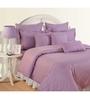 Swayam Purple Cotton Queen Size Bedding Set - Set of 4