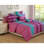 Swayam Purple Cotton Bed sheet - Set of 2