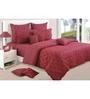 Swayam Wine Cotton Queen Size Bedding Set - Set of 4