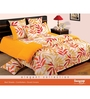 Swayam Yellow Cotton Queen Size Bed Sheet - Set of 3