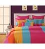 Swayam Multicolour Cotton Queen Size Bed sheet - Set of 3