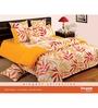 Swayam Yellow Cotton Bed sheet - Set of 2