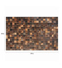 SWHF Brown Leather 59 x 35 Inch Area Rug