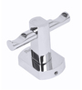 Swift Stylo Silver Brass 4 x 4 x 3 Inch Robe Hook (Model: St 7002)