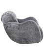 Swing Rocking Chair in Grey Velvet Fabric by Sofab