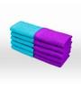 Swiss Republic Blue and Purple Cotton 11 x 11 Face Towel - Set of 10