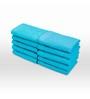 Swiss Republic Blue Cotton 11 x 11 Face Towel - Set of 10