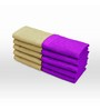 Swiss Republic Brown and Purple Cotton 11 x 11 Face Towel - Set of 10