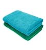 Swiss Republic Green and Blue Cotton 28 x 59 Bath Towel - Set of 2