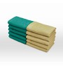 Swiss Republic Green and Brown Cotton 11 x 11 Face Towel - Set of 10
