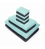 Swiss Republic Grey and Blue Cotton  Bath, Hand and Face Towel - Set of 10