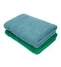 Swiss Republic Grey and Green Cotton 28 x 59 Bath Towel - Set of 2