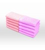 Swiss Republic Orange and Pink Cotton 11 x 11 Face Towel - Set of 10