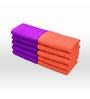 Swiss Republic Orange and Purple Cotton 11 x 11 Face Towel - Set of 10
