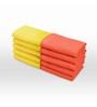 Swiss Republic Orange and Yellow Cotton 11 x 11 Face Towel - Set of 10