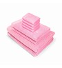 Swiss Republic Pink Cotton  Bath, Hand and Face Towel - Set of 8