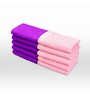 Swiss Republic Purple and Pink Cotton 11 x 11 Face Towel - Set of 10