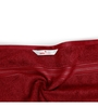 Swiss Republic Red and Brown Cotton 28 x 59 Bath Towel - Set of 2