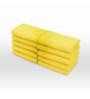Swiss Republic Yellow Cotton 11 x 11 Face Towel - Set of 10