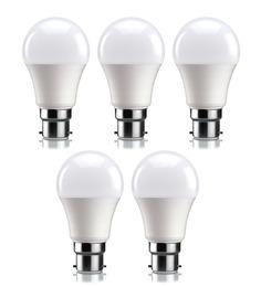 Syska SSK-PAG Cool White 7W LED Bulb - Set of 5