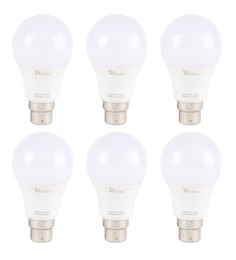 Syska White 7W LED Bulb - Set of 6