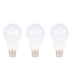 Syska White 9W LED Bulb - Set of 3
