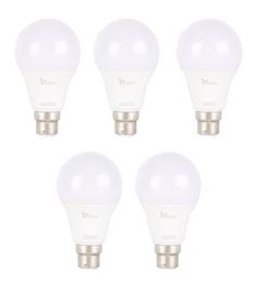 Syska White 9W LED Bulb - Set of 5