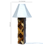 Sybil Table Lamp in White by Bohemiana