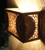 Sylvn Studio Brown Corrugated Board Estrella Wall Mounted Lamp