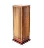 Sylvn Studio Brown Corrugated Board Fosse  Floor Lamp