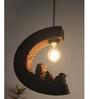 Sylvn Studio Brown Corrugated Cardboard Aerie Pendent