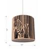 Sylvn Studio Brown Corrugated Cardboard Zebrunette  Pendent