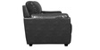 Taylor Leatherette Two Seater Sofa in Black Colour by HomeTown