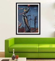 Tallenge Photographic Paper 18 X 1 X 24 Inch Modern Masters Collection The Burning Giraffe By Salvador Dali Framed Digital Art Print