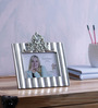 Importwala Take Me Home Baroque Silver Resin 8 x 0.25 x 8 Inch Photo Frame